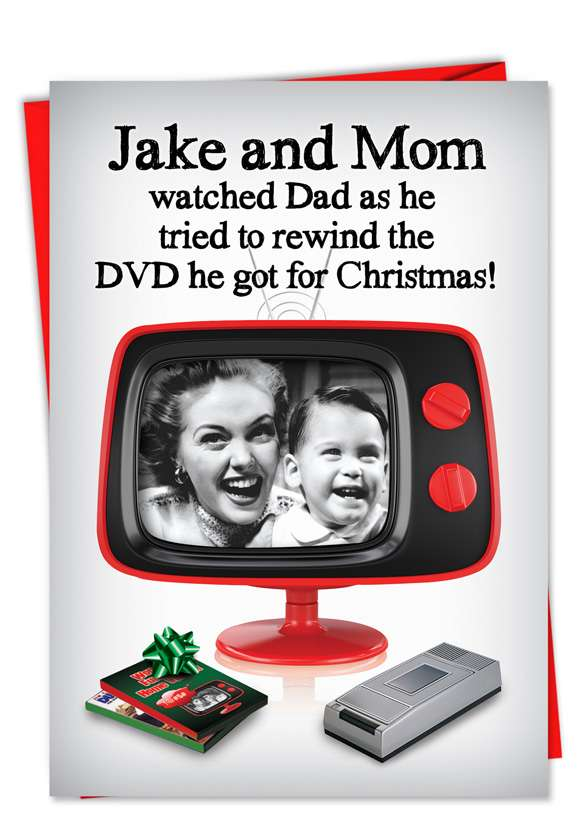 Rewind the DVD: Funny Christmas Paper Card