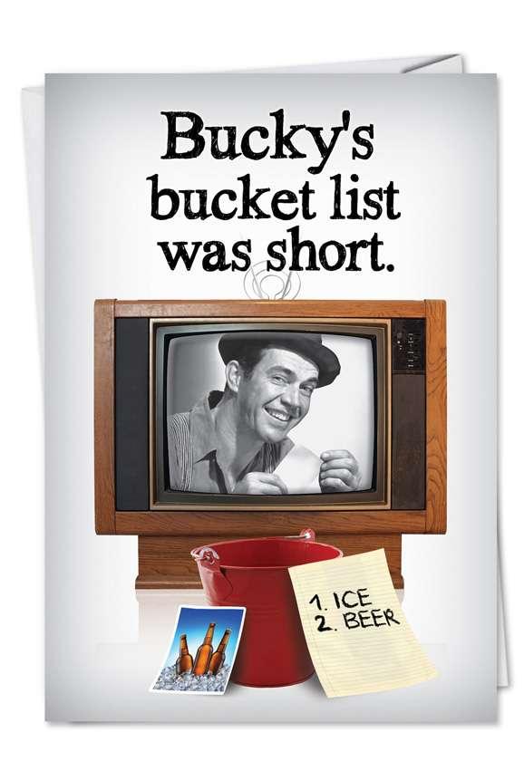 Bucket List: Funny Birthday Printed Greeting Card