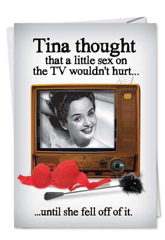 Sex on TV: Humorous Birthday Greeting Card