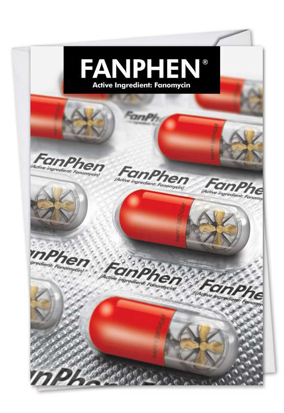 Fanphen: Hilarious Birthday Paper Card