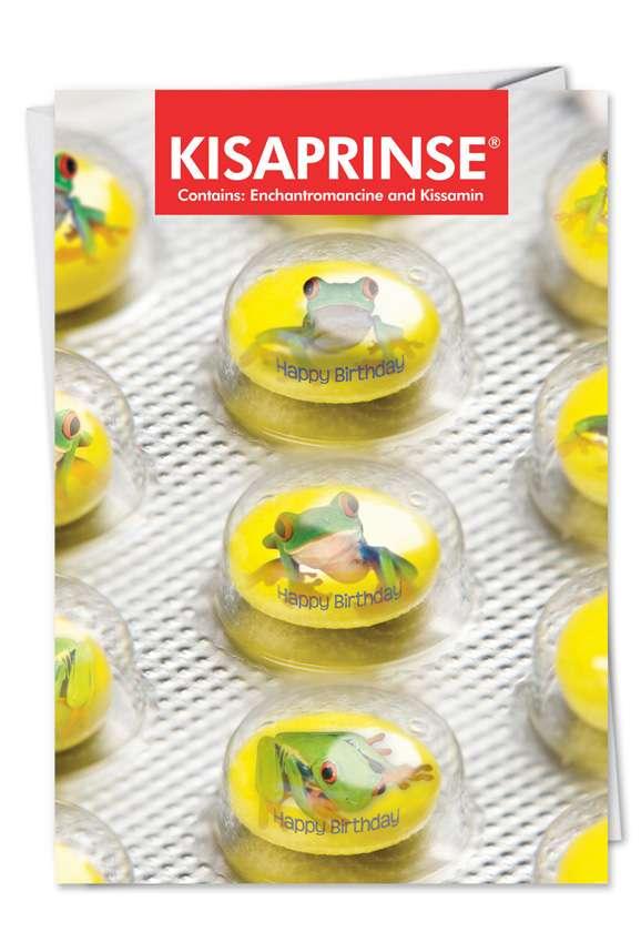 Kisaprinse: Funny Birthday Paper Greeting Card