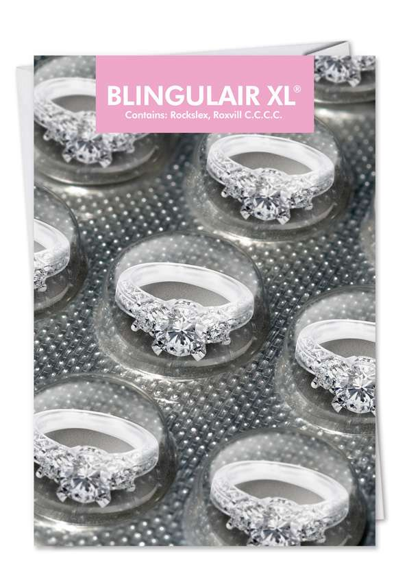 Blingulair XL: Hilarious Engagement Paper Greeting Card