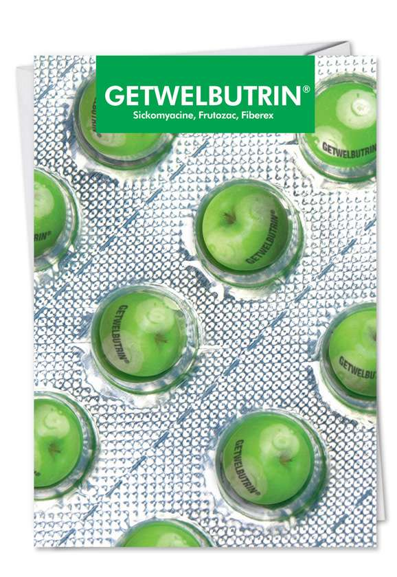 Getwellbutrin: Hilarious Get Well Printed Card