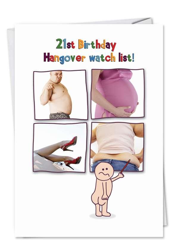 Hangover: Humorous Birthday Paper Card