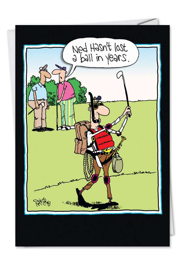 Lost A Ball: Funny Father's Day Printed Greeting Card