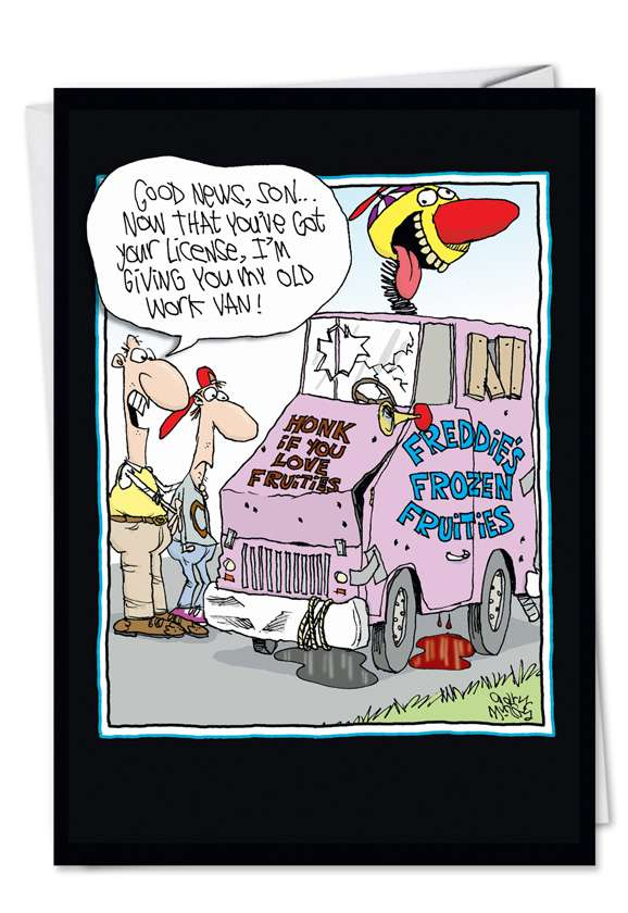 Old Work Van: Funny Father's Day Printed Card