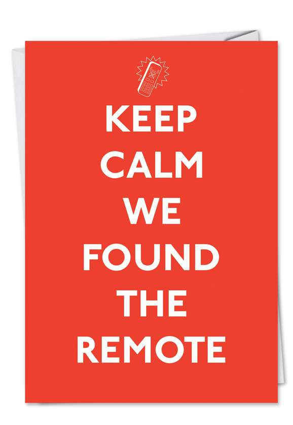 Keep Calm Remote: Hilarious Father's Day Paper Greeting Card
