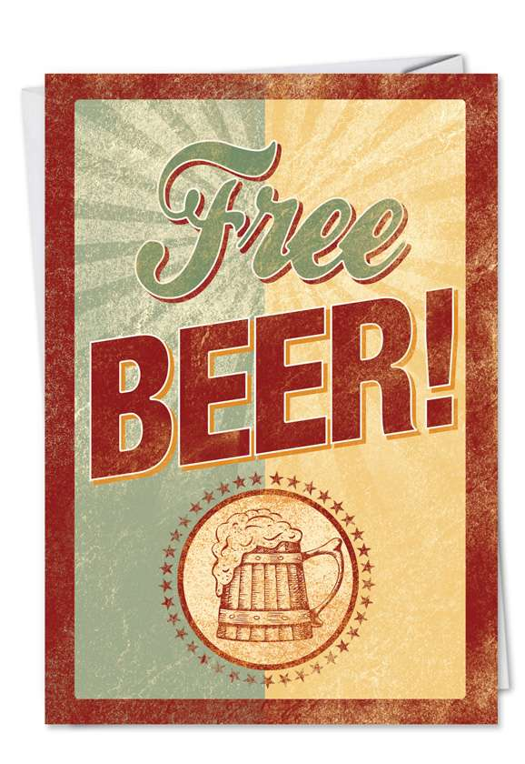 Free Beer: Hilarious Father's Day Greeting Card