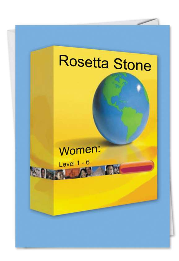 Rosetta Stone: Funny Father's Day Paper Greeting Card