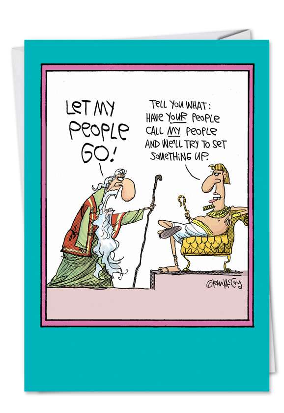 Let My People Go: Funny Easter Greeting Card