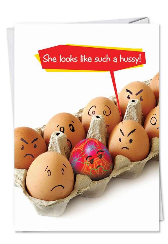 Easter Egg Hussy Card