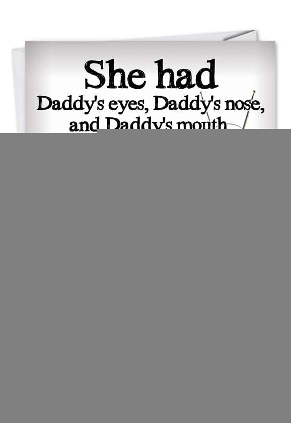 Daddy's Credit Card: Hysterical Father's Day Printed Card