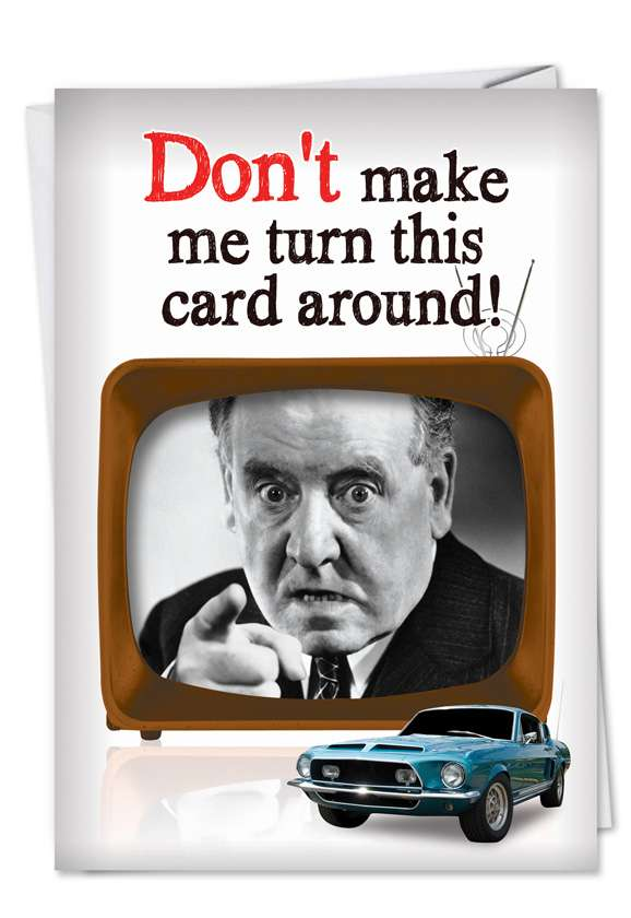 Turn Card Around: Humorous Father's Day Paper Card