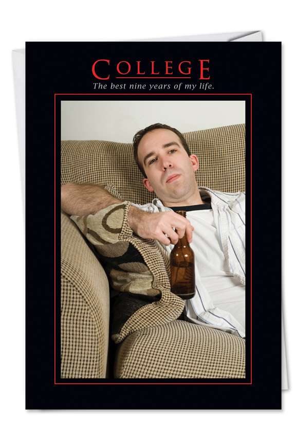 College: Hysterical Graduation Printed Card