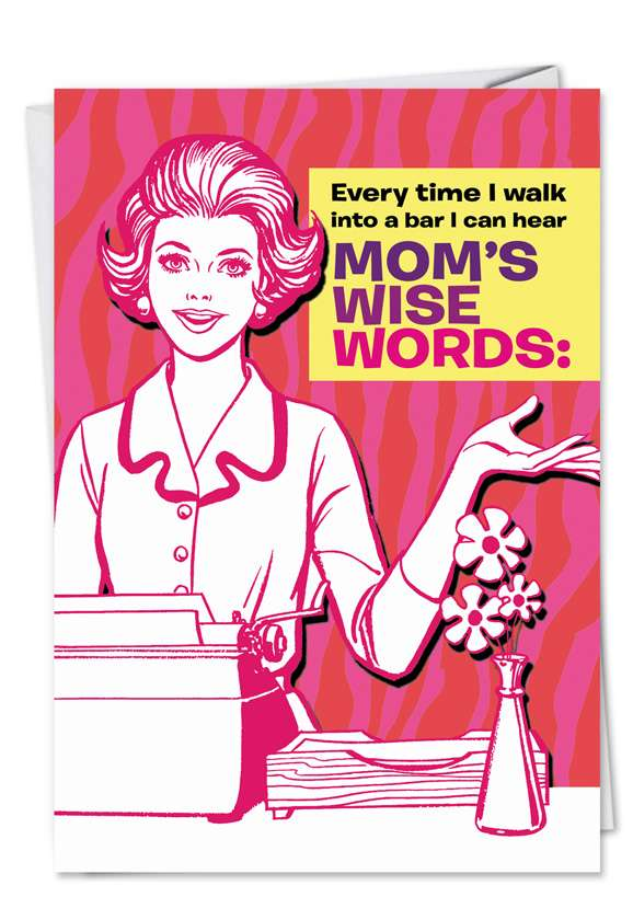Where It's Been: Funny Mother's Day Greeting Card