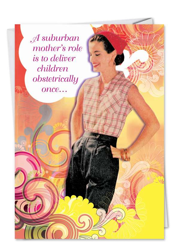 Suburban Mom: Humorous Mother's Day Printed Card