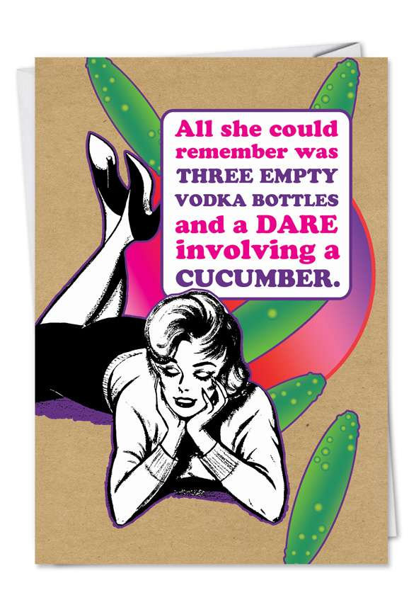 Dare Cucumber: Humorous Valentine's Day Paper Card