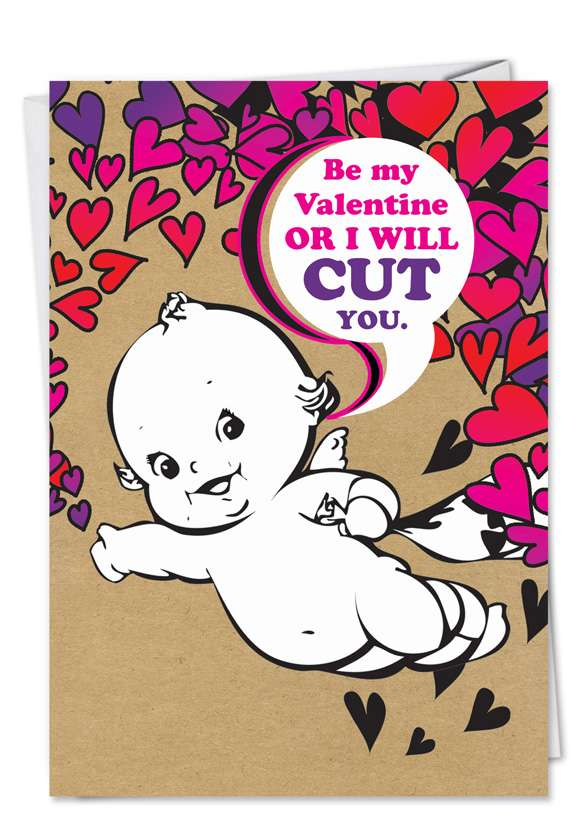Cut You: Hysterical Valentine's Day Paper Card