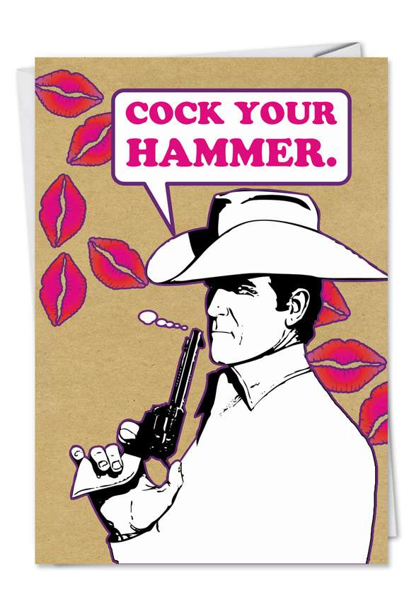 COCK YOUR HAMMER Card