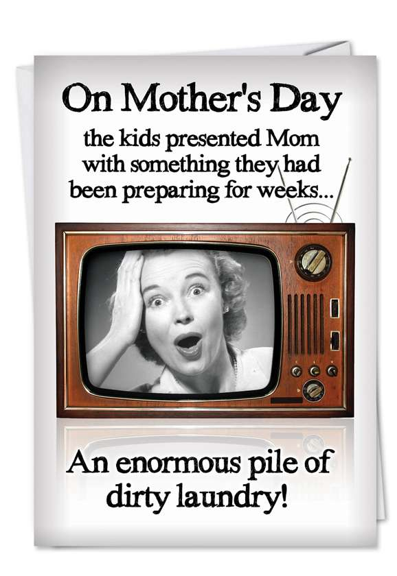 Dirty Laundry: Hilarious Mother's Day Printed Card