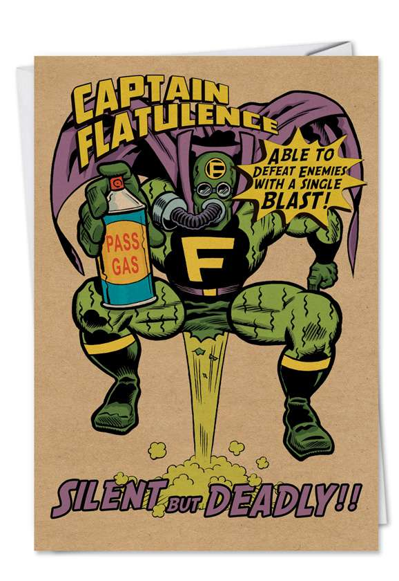 Captain Flatulence: Humorous Birthday Printed Card