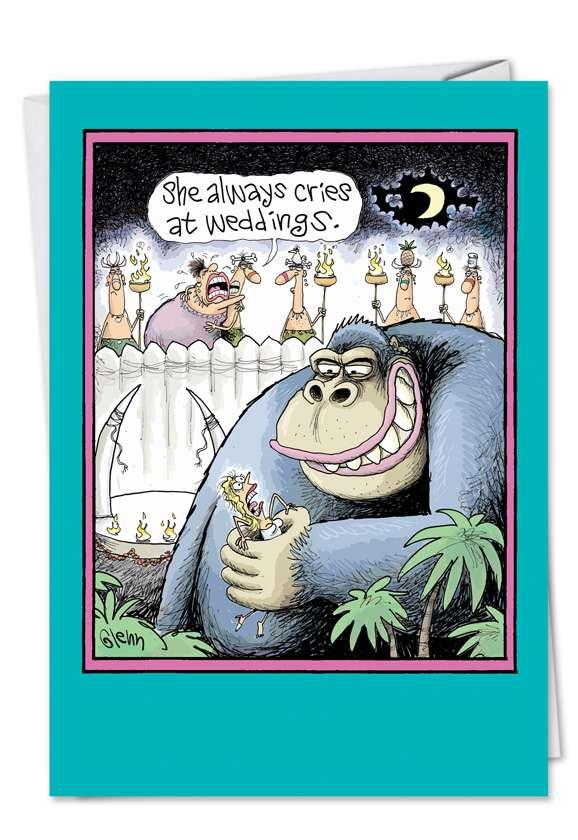 Kong Wedding: Hilarious Congratulations Paper Greeting Card