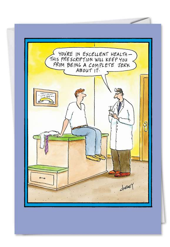 Jerk About It: Hilarious Get Well Greeting Card
