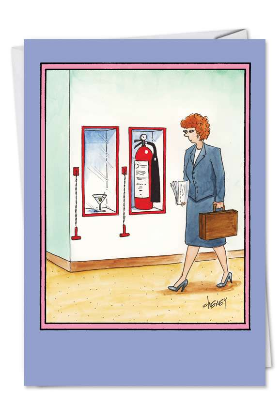 Emergency Martini: Hysterical Birthday Paper Greeting Card