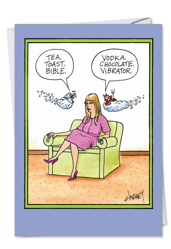 Vibrator: Hilarious Birthday Printed Card