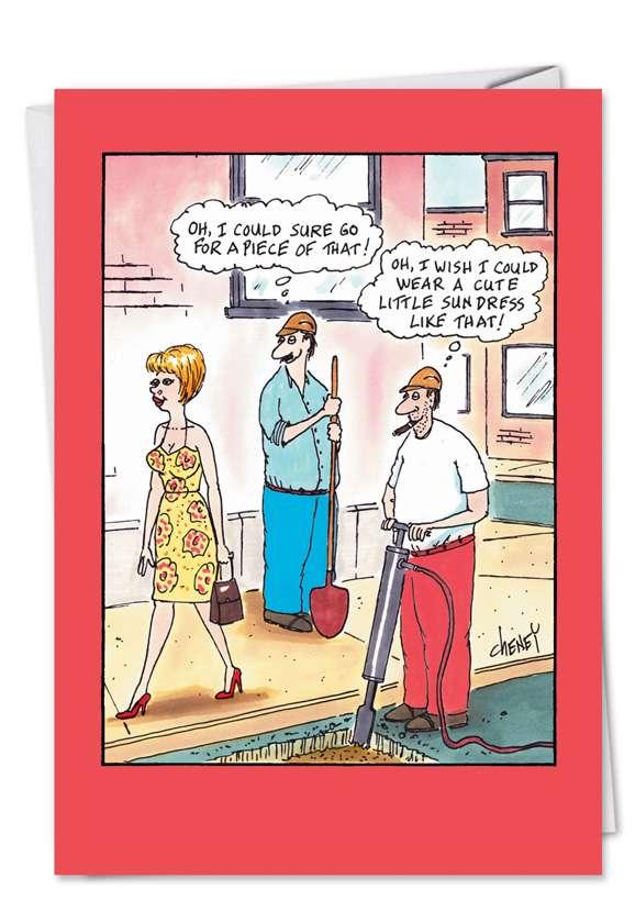 Sun Dress: Humorous Birthday Paper Greeting Card