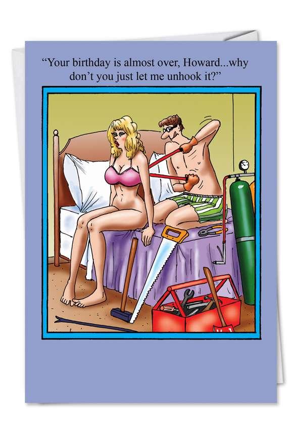 Let Me Unhook It: Humorous Birthday Paper Card