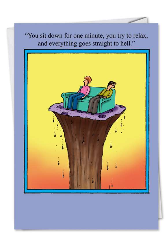 Straight to Hell: Humorous Birthday Printed Greeting Card