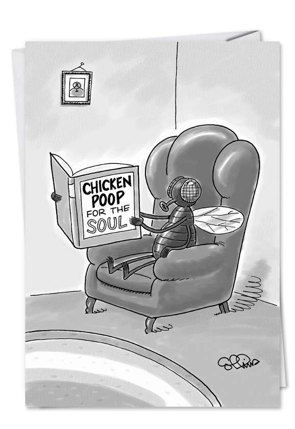 Chicken Poop for Soul: Hilarious Get Well Printed Greeting Card