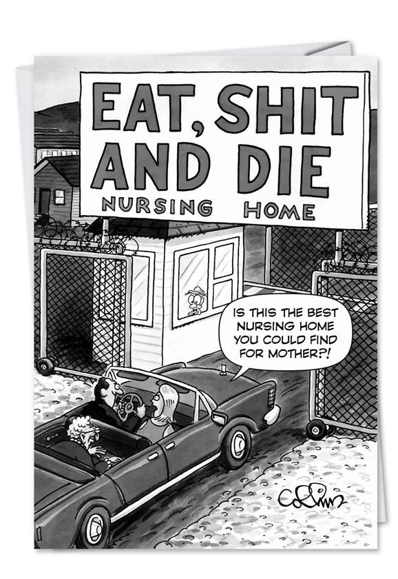 Eat Shit and Die: Humorous Birthday Paper Card