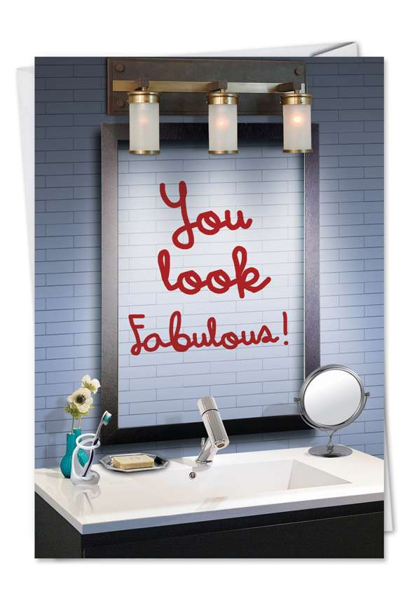 You Look Fine: Humorous Blank Paper Card