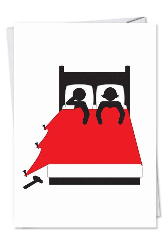 Nail Bed: Humorous Anniversary Printed Greeting Card