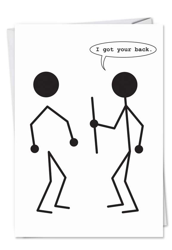Got Your Back: Hilarious Birthday Printed Card