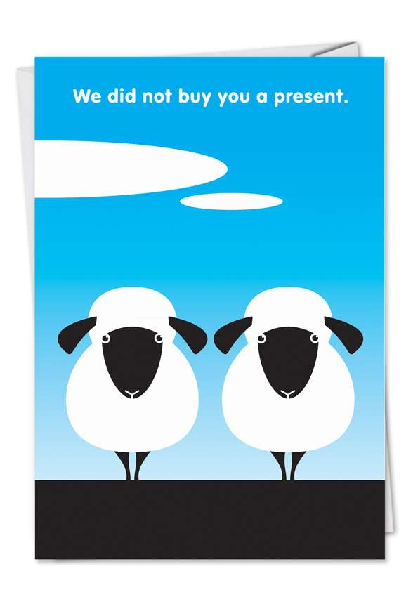 Two Sheep: Hysterical Birthday Paper Greeting Card