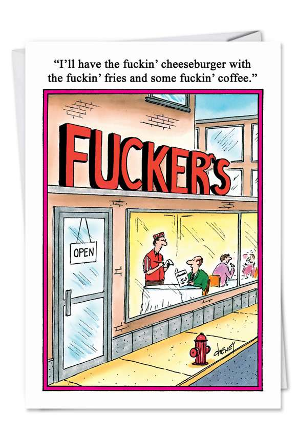 Fuckers: Hysterical Blank Paper Card