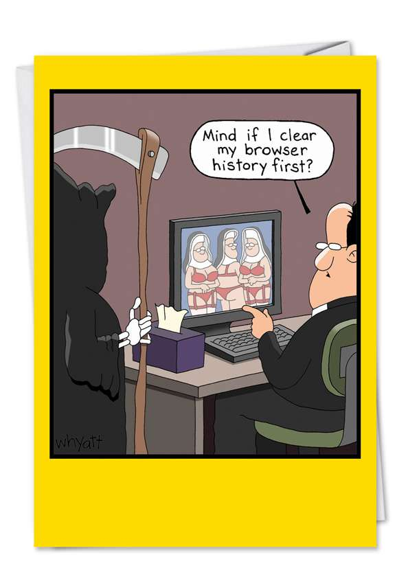 Browser History: Humorous Blank Paper Greeting Card