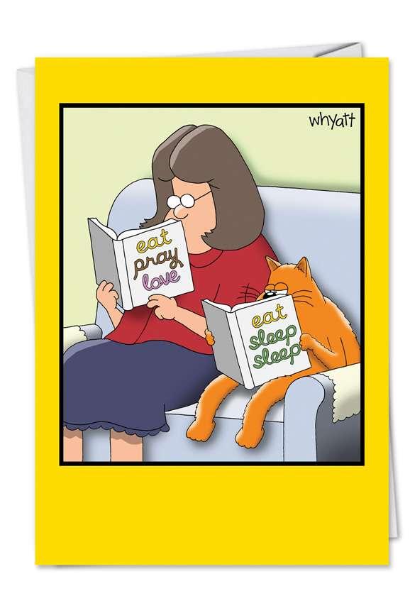 Eat Sleep Sleep: Hilarious Birthday Paper Greeting Card