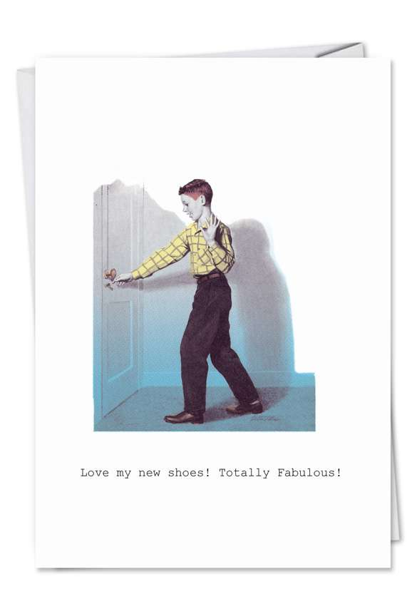 Totally Fab Shoes: Hysterical Birthday Greeting Card