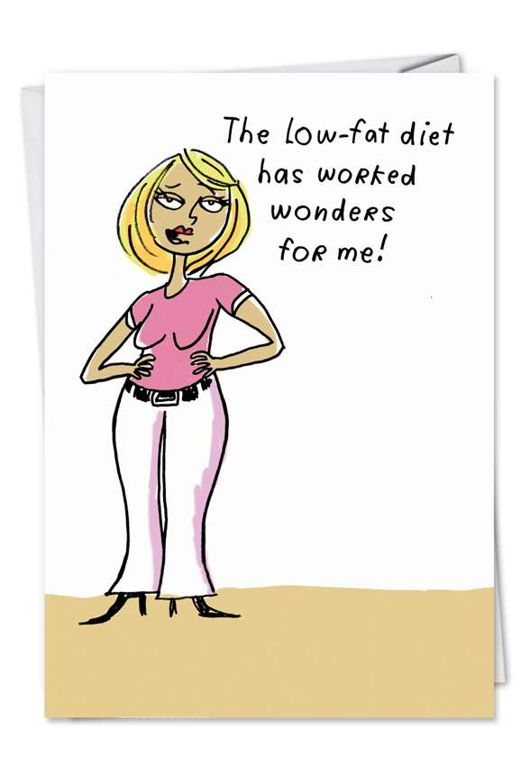 Low Fat Diet: Hysterical Birthday Greeting Card