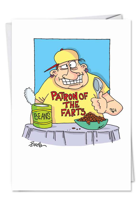 Patron of Farts: Funny Birthday Printed Greeting Card