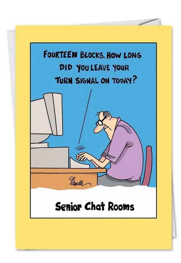 Senior Chat Room: Funny Birthday Printed Card