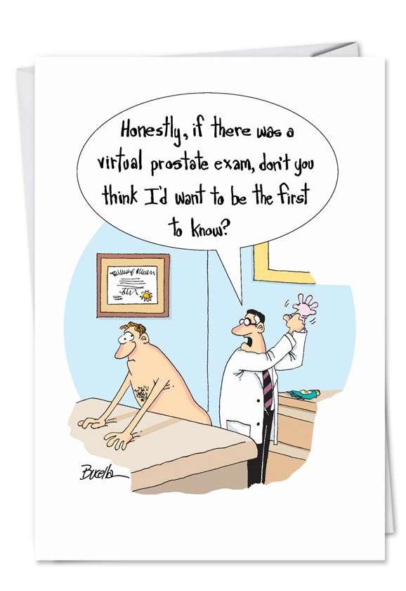 Virtual Prostate Exam: Funny Birthday Greeting Card