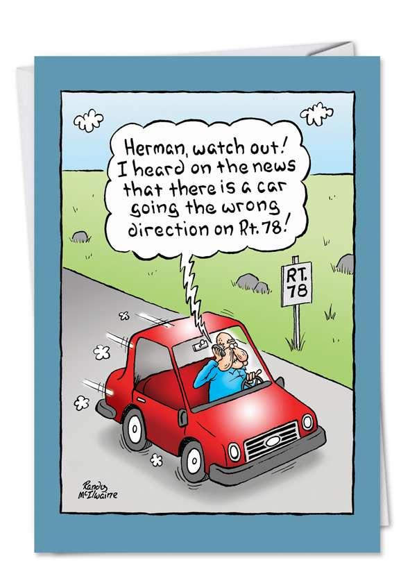 Wrong Way Card
