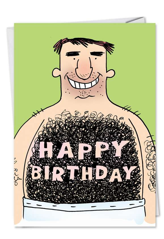 Hairy Chest: Hilarious Birthday Printed Card