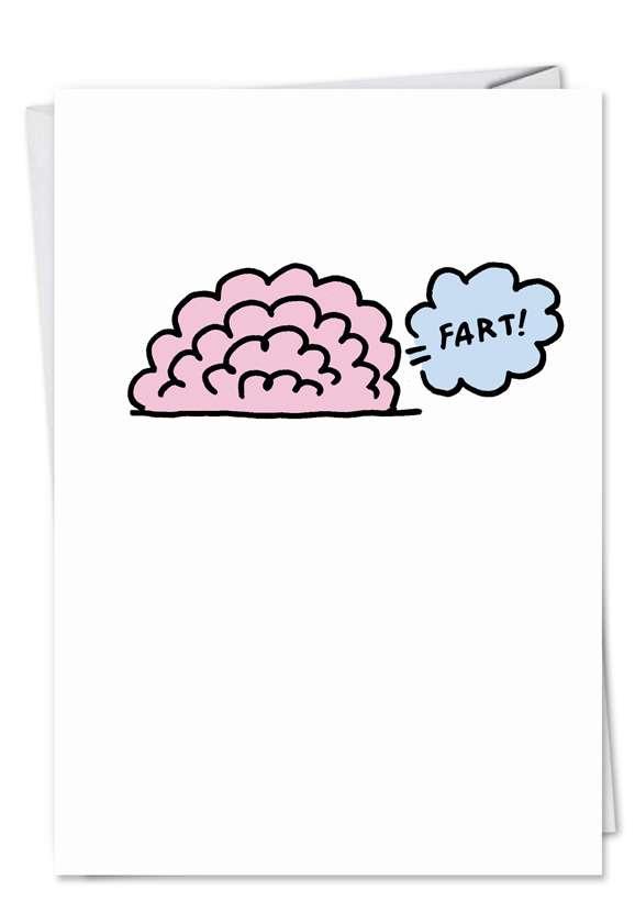 Brain Fart Oops: Hilarious Birthday Greeting Card