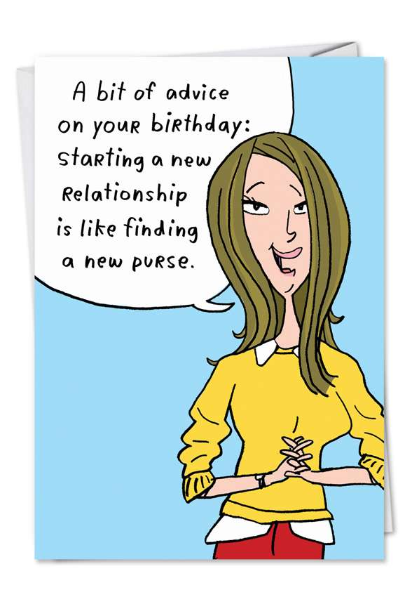 New Purse: Hilarious Birthday Paper Card